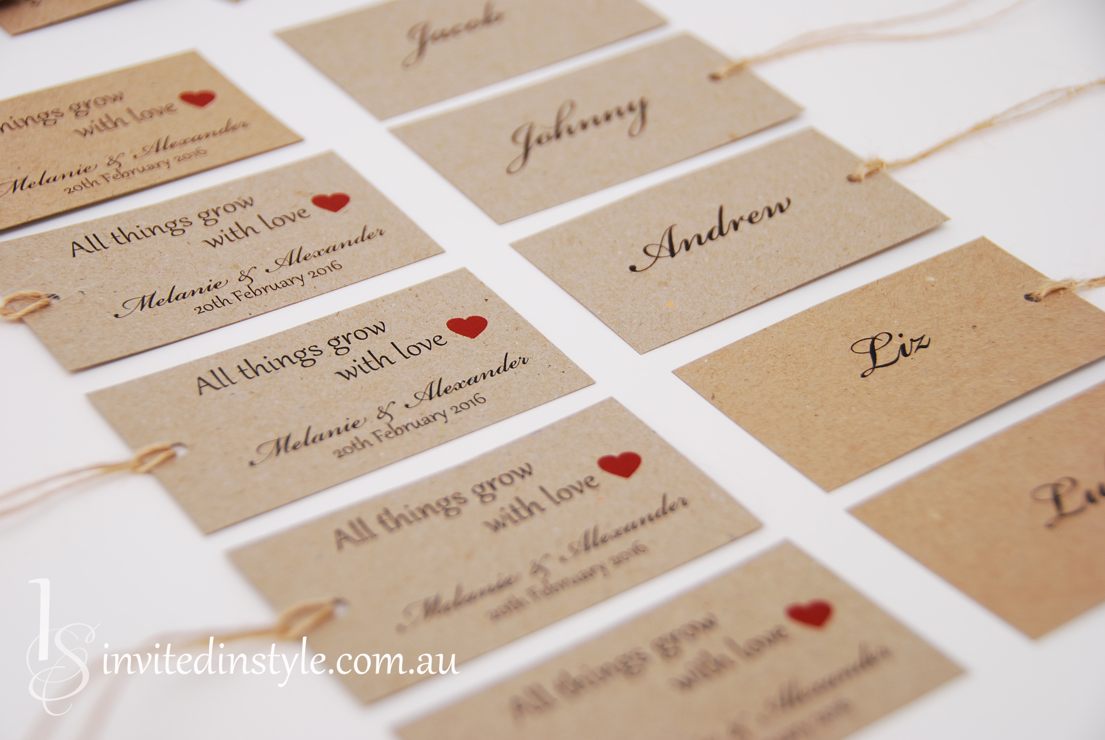 Bonbonniere Wedding Favours Amp Gift Tags Invited In Style