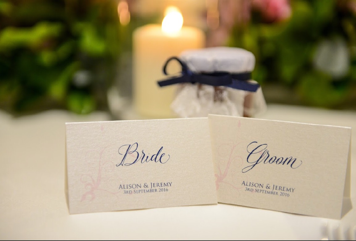 place cards menus table numbers invited in style