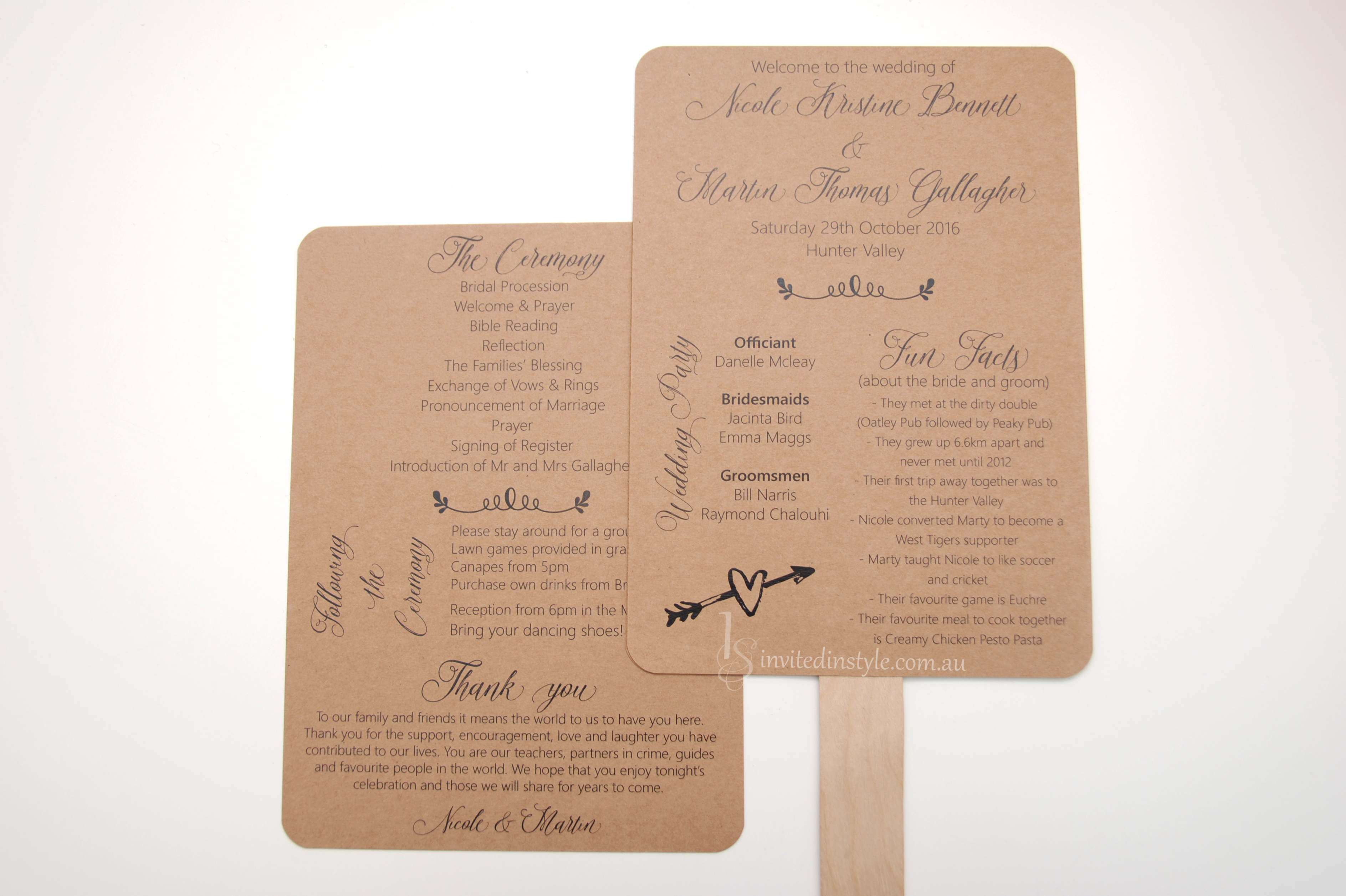 Order of Service Booklets & Wedding Programs | Invited in Style