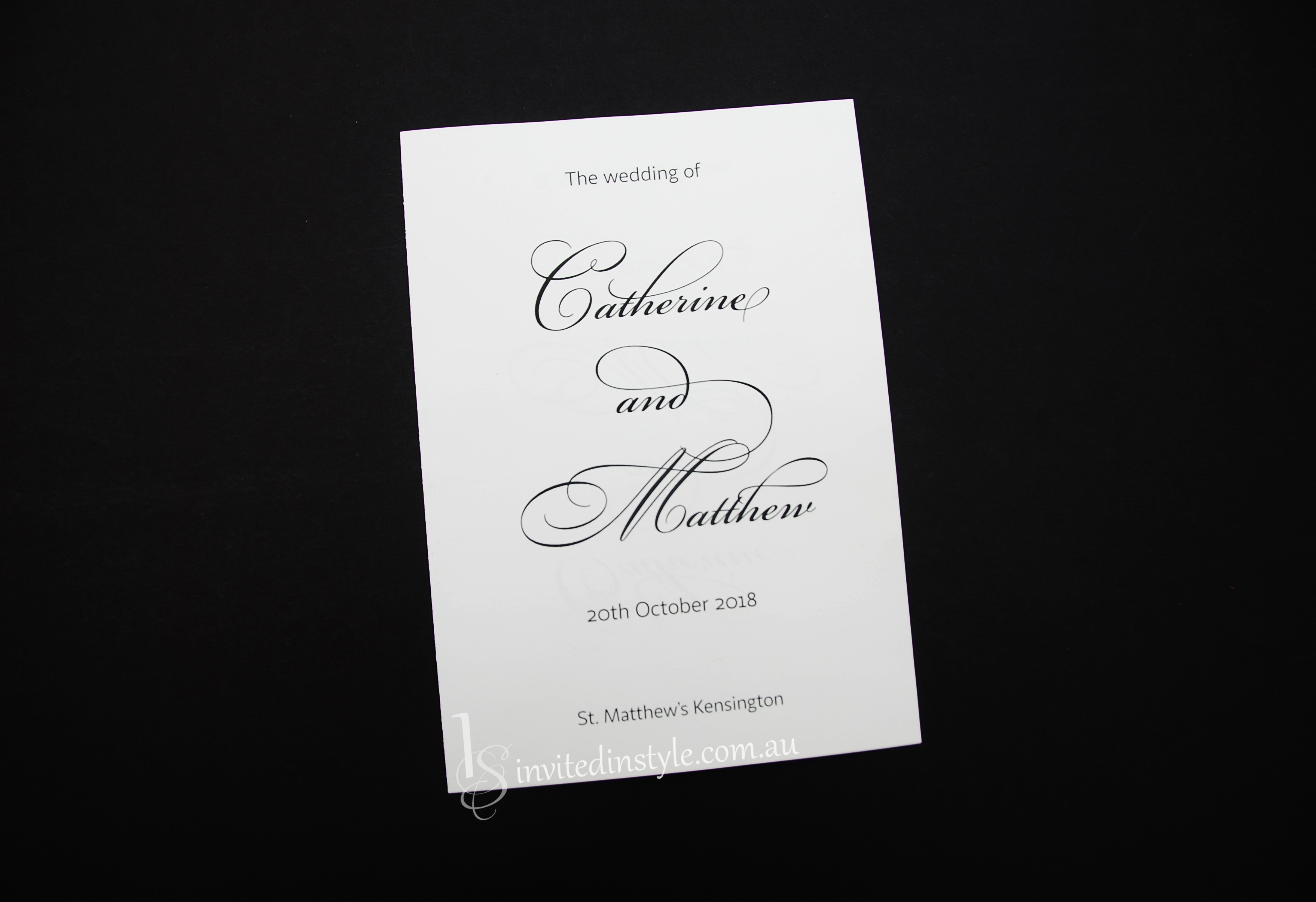 order of service booklets wedding programs invited in style