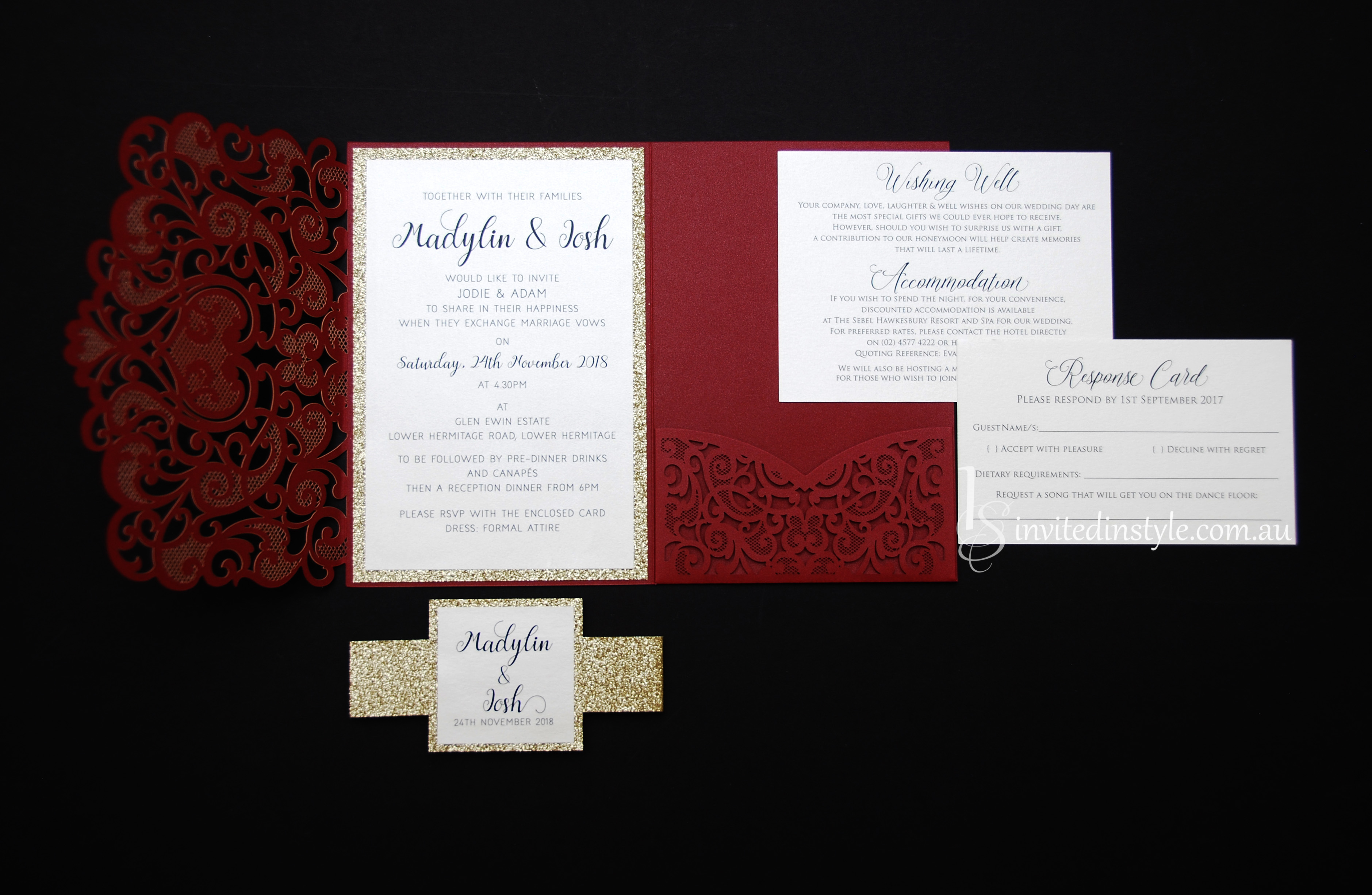 Pocket Laser Cut Invitations | Invited in Style
