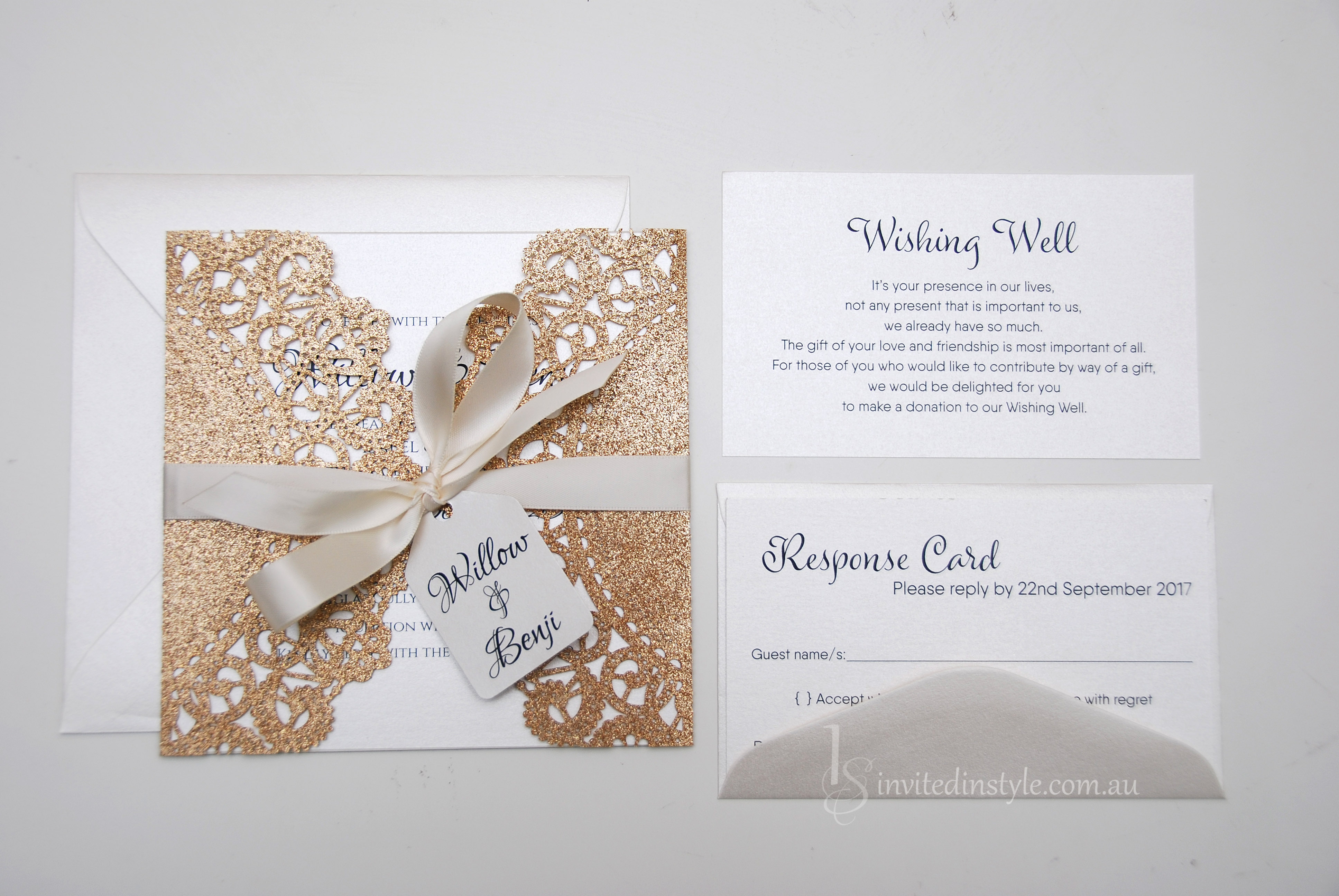 Glitter Laser Cut Collection | Invited in Style