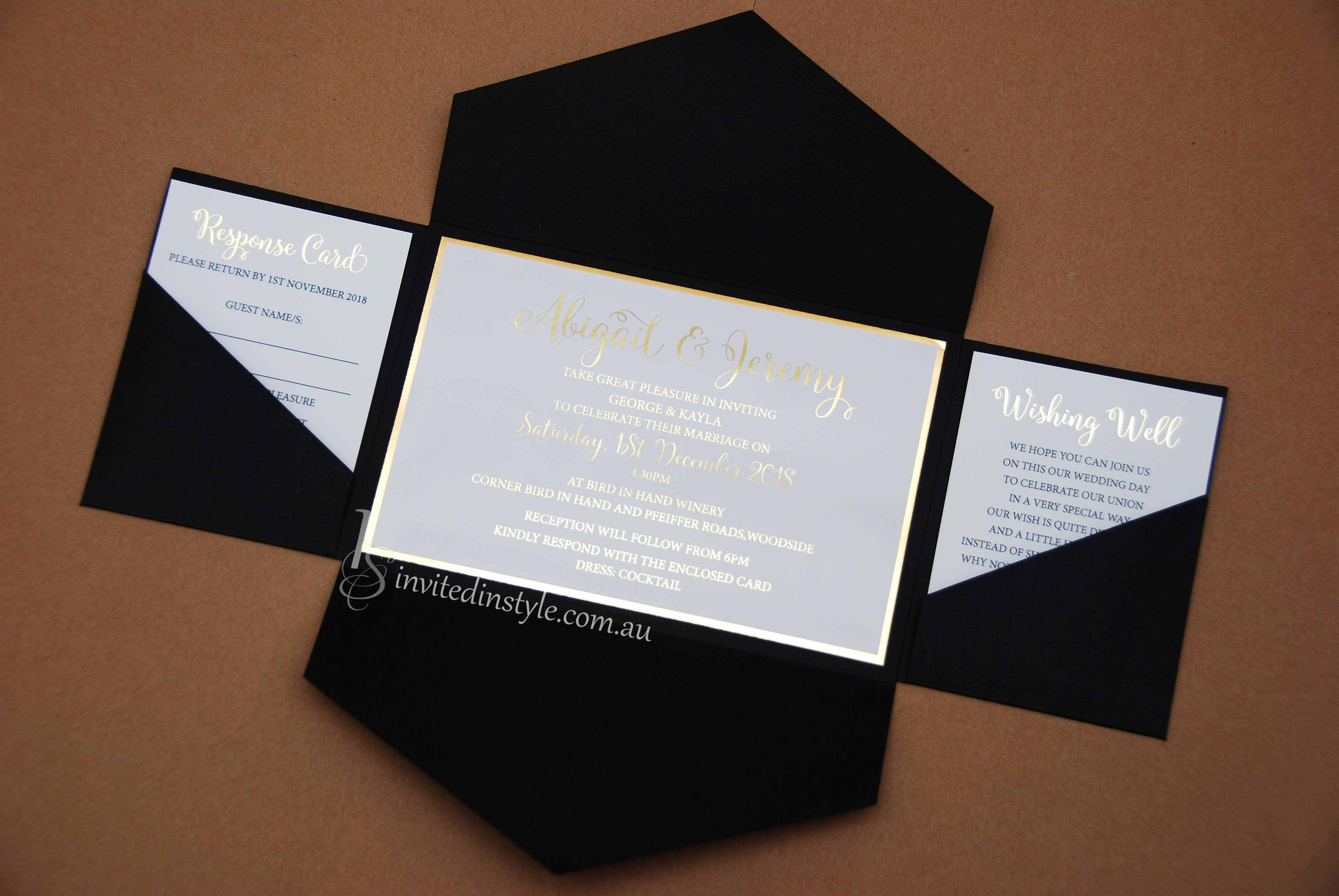 foiled invitations accessories invited in style