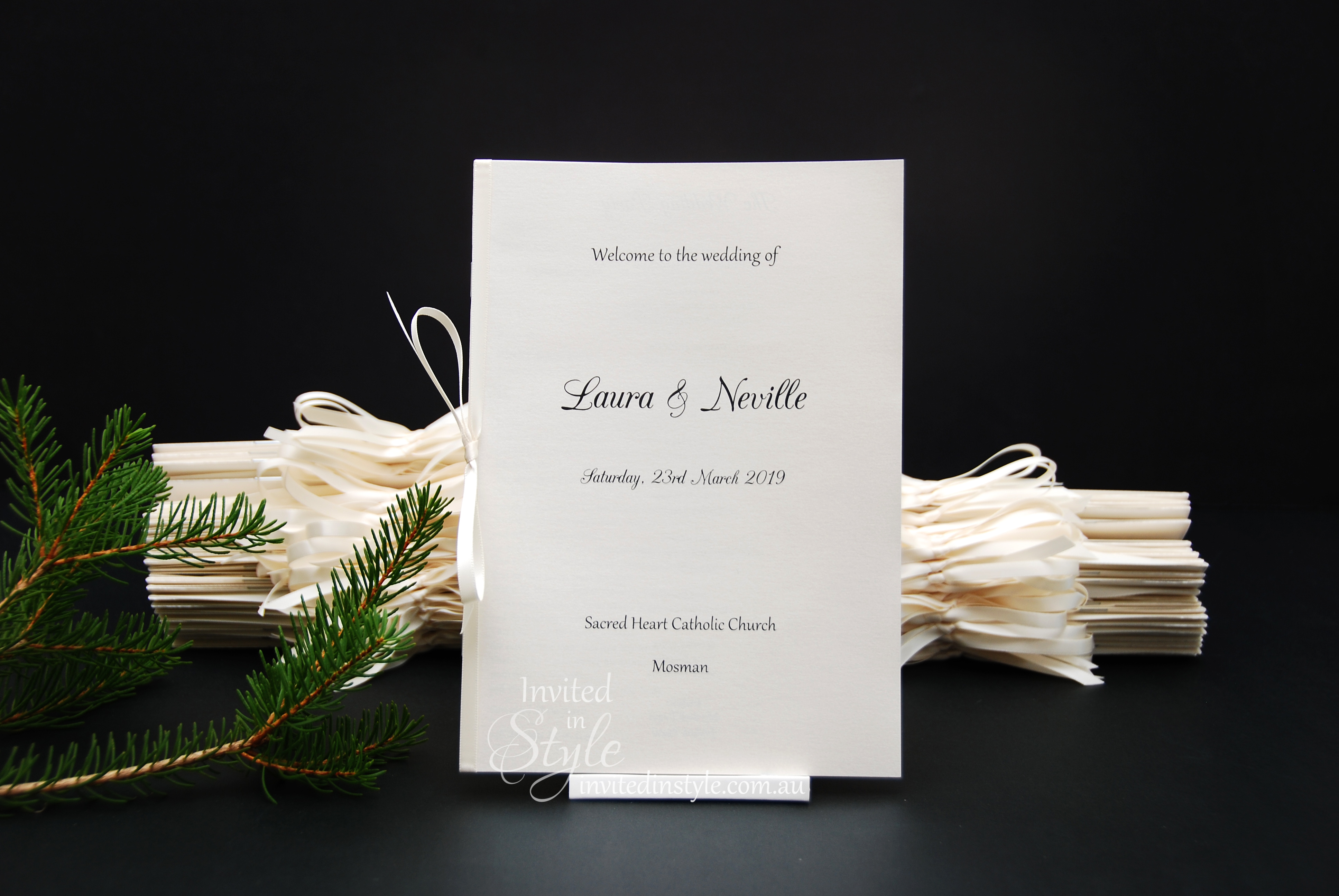 Order of Service/Church Booklets & Wedding Programs